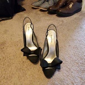 Sexy Bebe satin platform stilettos